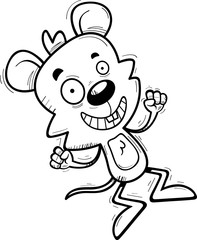 Cartoon Male Mouse Jumping