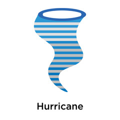 Hurricane icon vector sign and symbol isolated on white background