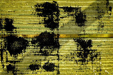 Ultra yellow grunge Wooden surface for design mock-up Cracked texture or dark background