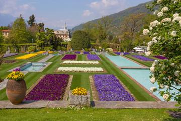 Terraced gardens in the botanical garden of Villa Taranto in Pallanza, Verbania, Italy.