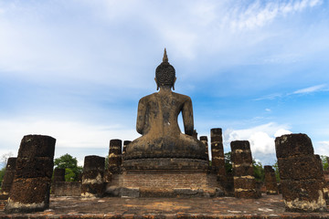 Wall Mural - Buddha statue in Sukhothai Historical Park