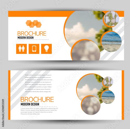flyer banner or web header template set vector illustration