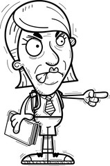 Angry Cartoon Senior Citizen Student