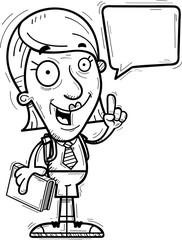 Cartoon Senior Citizen Student Talking