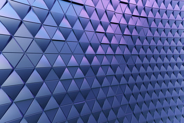 Dark blue black abstract 3D minimalistic geometrical background of triangles