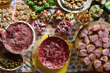 piatti tipici di una fesat campestre veneta