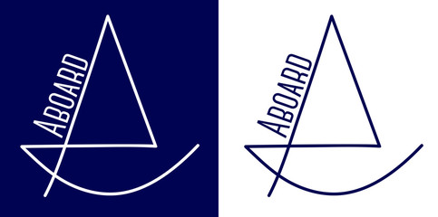 Simple Sail Boat Logo icon Design