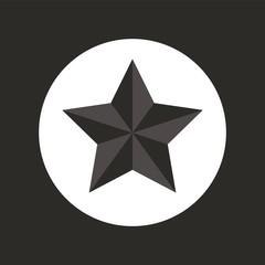Flat style vector retro star icon