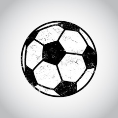Black and White Soccer Ball in a Grungy