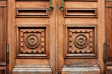 wooden carved door