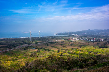 Skyline of the Taiwan sea line train