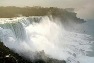 Photo sur Aluminium Buffalo Niagara falls or Waterfalls at sunrise