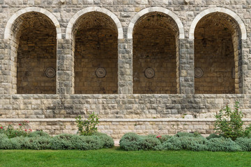 Four arches at Emir Bachir Chahabi Palace Beit ed-Dine in mount Lebanon Middle east, Lebanon