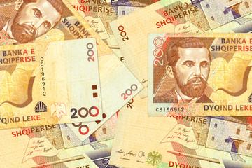 some 200 albanian lek bank note