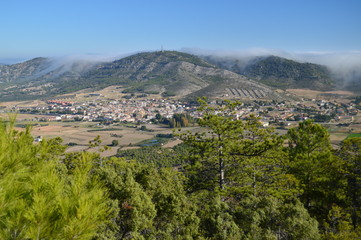 Beautiful Views Of Albalate Of Zorita From The Mount Range Of Altomira. Landscapes Travel Holidays. October 29, 2016. Albalate De Zorita Guadalajara Castilla La Mancha Spain.