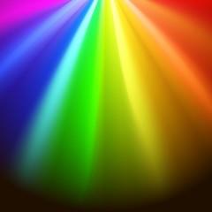 Colorful rainbows rays