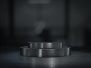 Pedestal for display,Platform for design,Blank product stand.3D  rendering