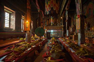 Inside the Shakya Monastery in Tibet