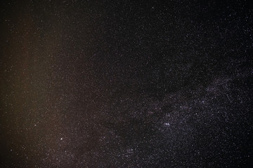 Background of starry night sky with the Milky Way