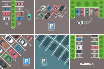 Parking in city.