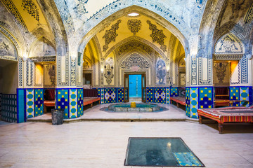 Inside view of bathhouse by kashan in Iran