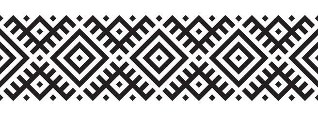 Geometric pattern in ethnic style seamless pattern Wall mural