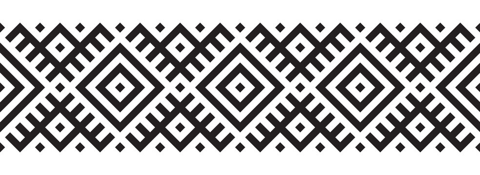 Geometric pattern in ethnic style seamless pattern