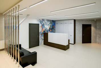 Reception and customer area in the office