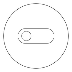 Toggle switch black icon in circle vector illustration isolated .