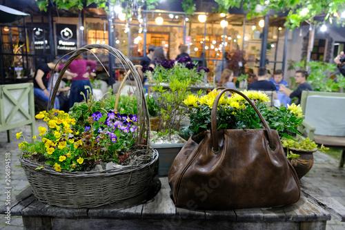 Gruzja Ciekawy Pomysł Na Doniczki Z Kwiatami Stock Photo