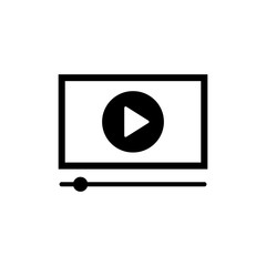 Play icon. Simple watch video symbol. Player icon