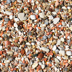 Colored gravel. High-resolution seamless texture. Sand or pebble texture