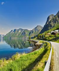 Summerday in Aurland, Sogn og Fjordane, Norway