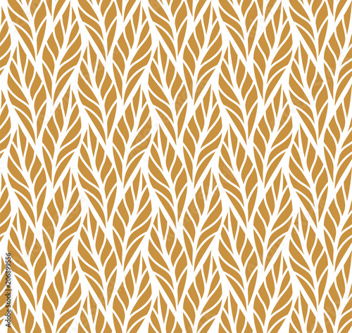 Geometric leaves vector seamless pattern  Abstract vector