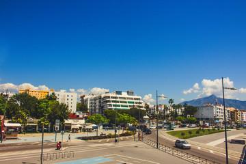 San Pedro de Alcantara. A sunny day in San Pedro de Alcantara, Marbella. Malaga Province, Andalusia, Spain. Picture taken – 22 may 2018.