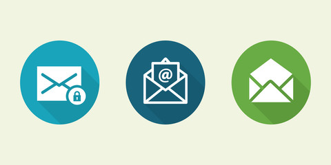 Mail icons vector illustration.