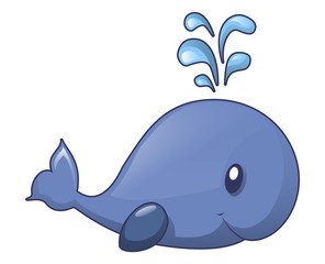 Whale kid icon. Cartoon of whale kid vector icon for web design isolated on white background