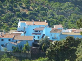 Juzcar,pueblo azul pitufo en Malaga (Andalucia,España) en la serrania de Ronda
