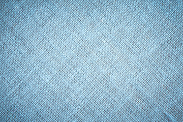 Blue Textile Background. / Texture close up of colored canvas material