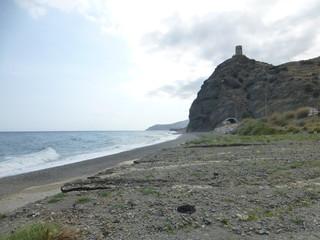 Castillo de Baños en la costa de Granada junto a Almeria (Andalucia,España)