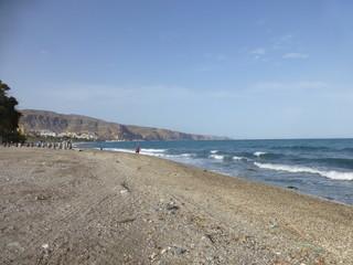 Playa de Aguadulce, localidad española  de Roquetas de Mar, provincia de Almería, en la comunidad autónoma de Andalucía (España)