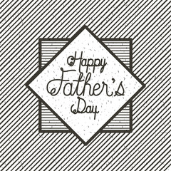 happy fathers day card emblem vector illustration design