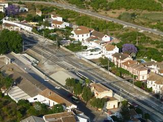 Álora, pueblo español de la provincia de Málaga, en la comunidad autónoma de Andalucía (España)  situado en  la comarca del Valle del Guadalhorce