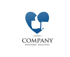 like logo vector, Thumb up like logo Super cool vote sign