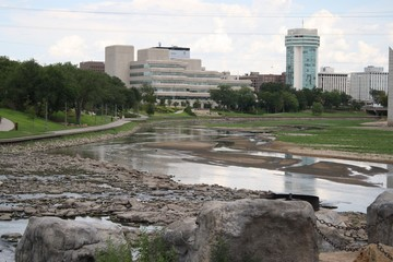 View of downtown Wichita from the river