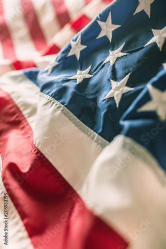 577a43fb0f49 Close-up of american flag stars and stripes