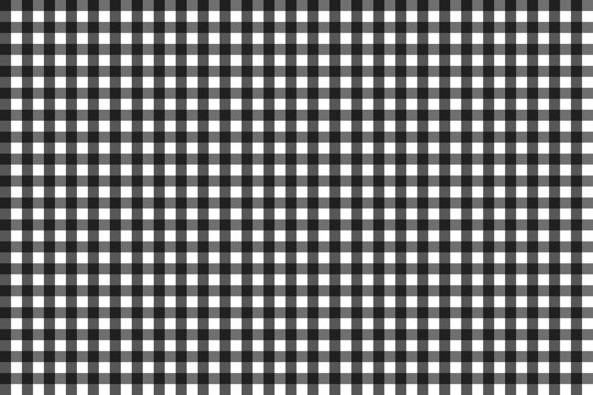 Pattern for black and grey checkered tablecloth, seamless