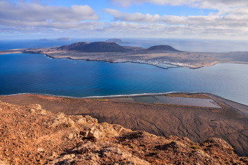 Landscape in Tropical Volcanic Canary Islands Spain