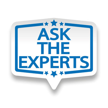 ask the experts you web paper label badge on white