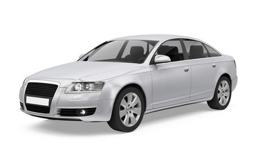 Luxury Sedan Car Isolated